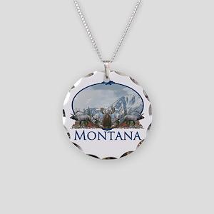 Montana Necklace Circle Charm