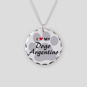Dogo Argentino Necklace Circle Charm