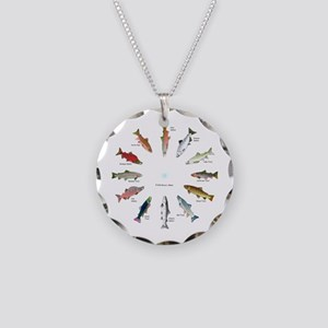 North American Salmon and Trouts Clocks Necklace