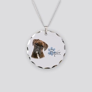 Boxer Puppy Necklace Circle Charm