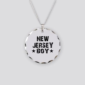 New Jersey Boy Necklace Circle Charm