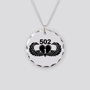 1-502 Black Heart Necklace Circle Charm