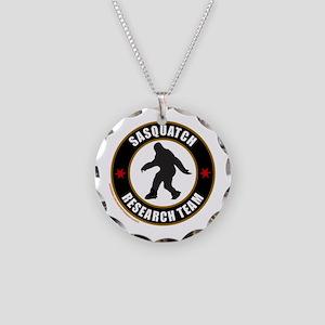 SASQUATCH RESEARCH TEAM Necklace Circle Charm