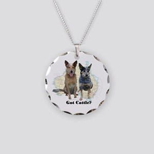Got Cattle? Necklace Circle Charm