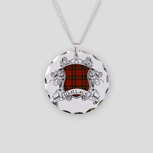 Wallace Tartan Shield Necklace Circle Charm