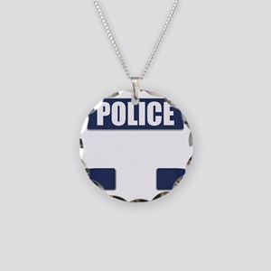 Police Bullet-Proof Vest Necklace Circle Charm