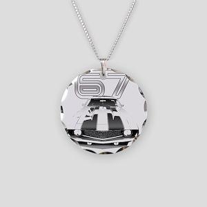 Camaro Black 1967 Necklace Circle Charm