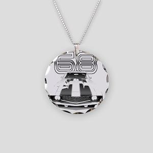 Camaro Black 1968 Necklace Circle Charm