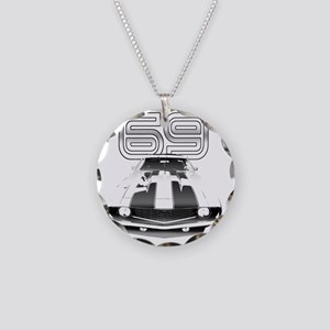Camaro Black 1969 Necklace Circle Charm