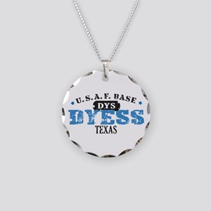 Dyess Air Force Base Necklace Circle Charm