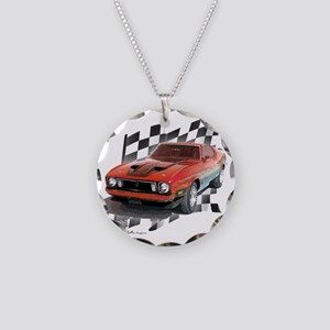 73stang Necklace Circle Charm