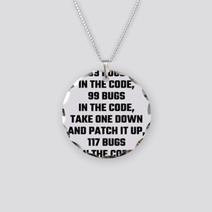 99 Bugs In The Code Necklace Circle Charm