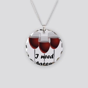 At my age I need glasses! Necklace Circle Charm