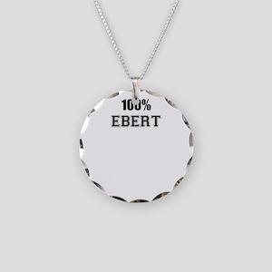 100% EBERT Necklace Circle Charm