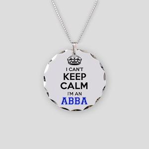 I cant keep calm Im ABBA Necklace Circle Charm