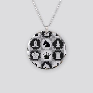 Chessboard Pattern Necklace