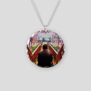 Frank in Wonderland Necklace Circle Charm