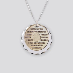 SERENITY COIN Necklace Circle Charm