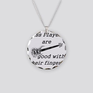 good with their fingers Necklace Circle Charm
