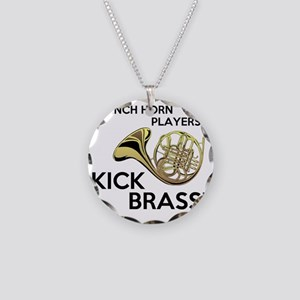 Horn Players Kick Brass Necklace Circle Charm