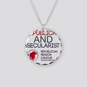 Republican and Secularist Ap Necklace Circle Charm