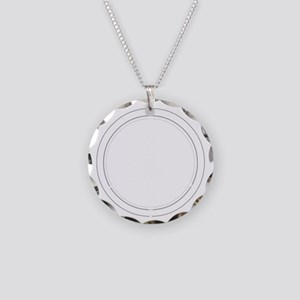 Peace Row White Necklace Circle Charm