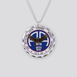 Falcon v1 - 2nd-325th Necklace Circle Charm