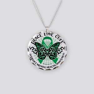 Mental-Health-Butterfly-Trib Necklace Circle Charm