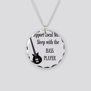 sleep with the bass player 1 Necklace Circle Charm