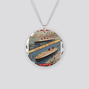 Vintage poster - Cunard Necklace Circle Charm