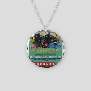 Vintage poster - Florida Necklace Circle Charm
