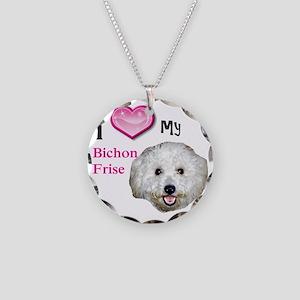 BichonFrise2 Necklace Circle Charm