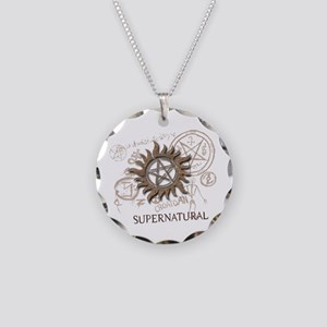 SUPERNATURAL Rusty Metal Necklace Circle Charm