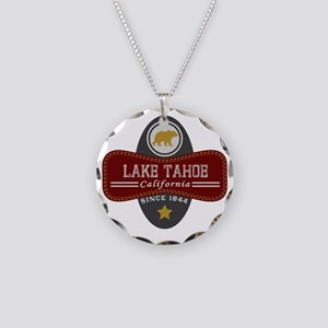 Lake Tahoe Nature Marquis Necklace Circle Charm