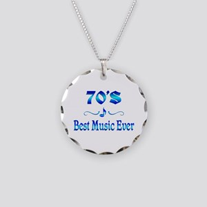 70s Best Music Necklace Circle Charm