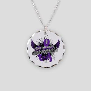 Chiari Awareness 16 Necklace Circle Charm