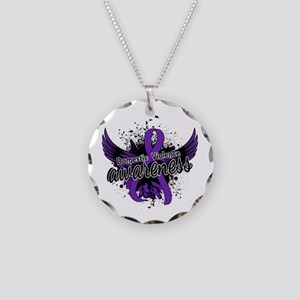 Domestic Violence Awareness Necklace Circle Charm