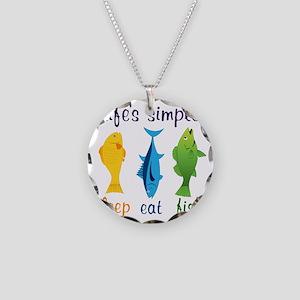 Lifes Simple Necklace Circle Charm