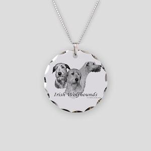 3 IRW head study Necklace Circle Charm