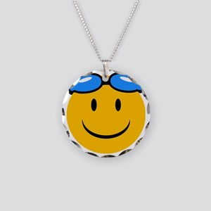 swimming Necklace Circle Charm