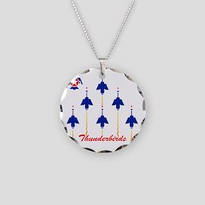 Thunderbirds Necklace Circle Charm