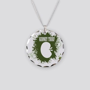kidney thief 2white Necklace Circle Charm