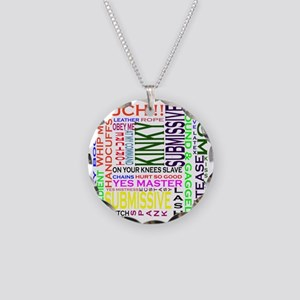 words Necklace Circle Charm