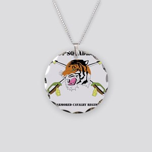DUI-1-3RD ARMORED CAVALRY RE Necklace Circle Charm