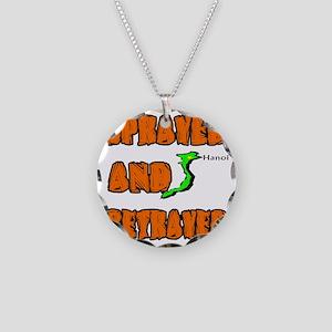 SPRAYED Necklace Circle Charm