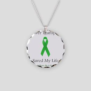 LiverTransplantSaved Necklace Circle Charm