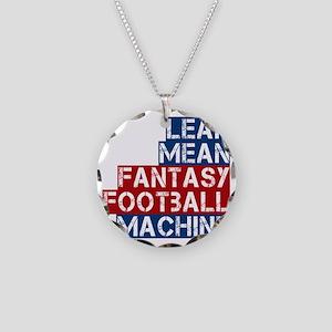 lean mean ff machine Necklace Circle Charm