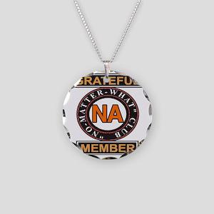 NA GRATEFUL MEMBER Necklace Circle Charm