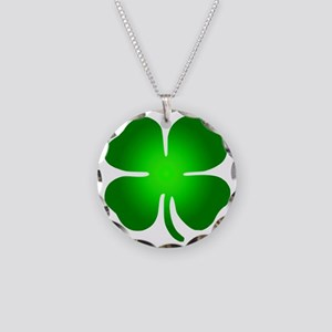 clover Necklace Circle Charm