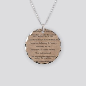 feb11_ten_commandments Necklace Circle Charm